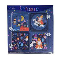 Sinterklaas 4in1 Puzzel 4-12 Stukjes