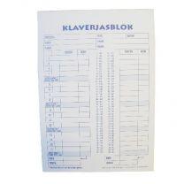 Scoreblok Klaverjas A5