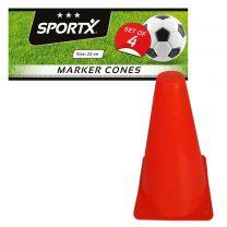 SportX Oranje Pionnen 22 cm 4 Stuks