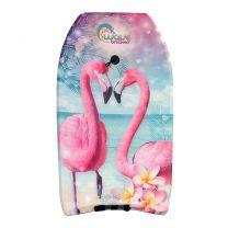 Wave Breakers Bodyboard met Flamingo Print 83 cm