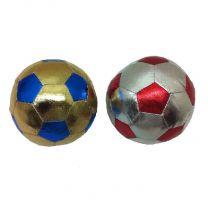 Summertime Stoffen Ball Zilver + Goud 10cm