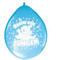 Ballon Hoera een Jongen 30cm 8 stuks