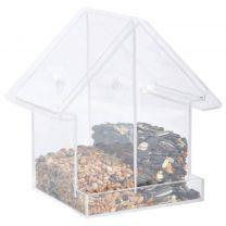 Esschert Design Voederhuisje voor het raam dubbel acryl