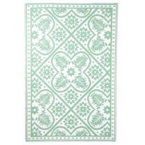 Esschert Design Buitenkleed 182x122 cm groen en wit