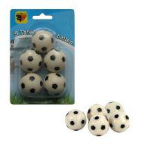 Tafelvoetbalballen 5stuks