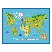 Intrada Speelkleed Wereldkaart 90x120 cm Polyamide
