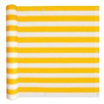 Balkonscherm HDPE 90x400 cm geel en wit