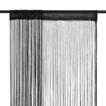 Draadgordijnen 2 st 100x250 cm zwart