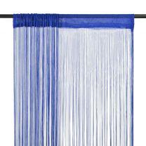 Draadgordijnen 140x250 cm blauw 2 st