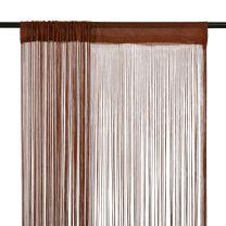 Draadgordijnen 100x250 cm bruin 2 st