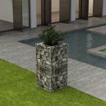 Gabion plantenbak staal 50x50x100 cm