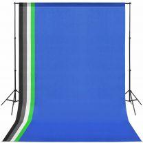 Fotostudio set met 5 achtergronden en verstelbaar frame