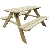 Picknicktafel voor kinderen 89x89,6x50,8 cm FSC grenenhout