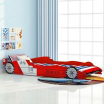 Kinder race auto bed 90x200 cm rood