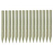 Palen met punt 15 st 4x100 cm gempregneerd grenenhout