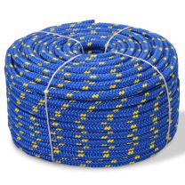 Boot touw 12 mm 50 m polypropyleen blauw