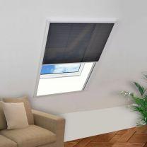 Raamhor pliss 60x80 cm aluminium
