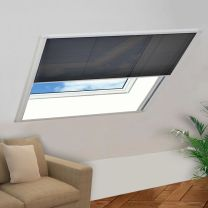 Raamhor pliss 120x120 cm aluminium
