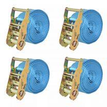 Spanbanden 2 ton 6mx38mm blauw 4 st