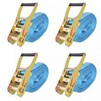 Spanbanden 4 ton 8mx50mm blauw 4 st