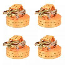 Spanbanden 1 ton 6mx38mm oranje 4 st