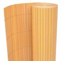 Tuinafscheiding dubbelzijdig 90x300 cm geel