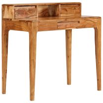 Schrijftafel met lades 88x50x90 cm massief hout