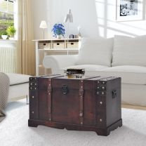 Schatkist vintage 66x38x40 cm hout