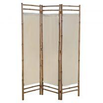 Kamerscherm 3-panelen inklapbaar 120 cm bamboe en canvas