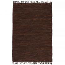 Vloerkleed Chindi handgeweven 160x230 cm leer bruin
