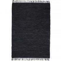 Vloerkleed Chindi handgeweven 160x230 cm leer zwart