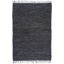 Vloerkleed Chindi handgeweven 190x280 cm leer grijs