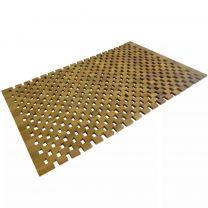 Badmat 80x50 cm acaciahout mozaek