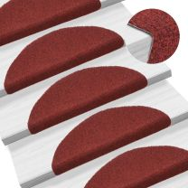 Trapmatten zelfklevend 54x16x4 cm naaldvilt rood 15 st