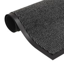 Droogloopmat rechthoekig getuft 60x90 cm antraciet