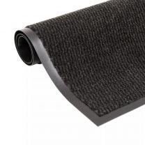 Droogloopmat rechthoekig getuft 60x90 cm zwart
