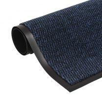 Droogloopmat rechthoekig getuft 60x90 cm blauw