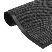 Droogloopmat rechthoekig getuft 80x120 cm antraciet