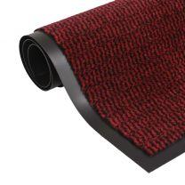 Droogloopmat rechthoekig getuft 80x120 cm rood