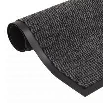 Droogloopmat rechthoekig getuft 90x150 cm antraciet