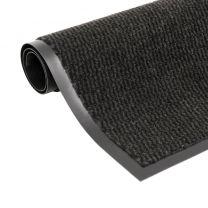Droogloopmat rechthoekig getuft 90x150 cm zwart