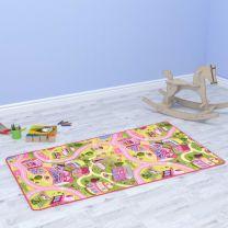 Speelmat 100x165 cm lussenpool zoet dorpspatroon