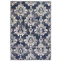 Vloerkleed modern paisley ontwerp 160x230 cm beige/blauw