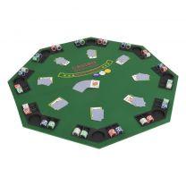 Poker tafelblad voor 8 spelers 2-voudig inklapbaar groen