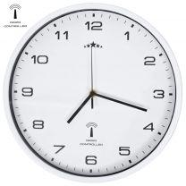 Wandklok met quartz uurwerk radiogestuurd 31 cm wit