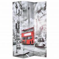 Kamerverdeler inklapbaar Londen bus 120x180 cm zwart en wit