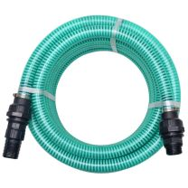 Zuigslang met koppelingen 7 m 22 mm groen
