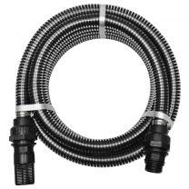 Zuigslang met koppelingen 4 m 22 mm zwart