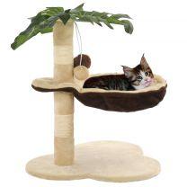 Kattenkrabpaal met sisal krabpaal 50 cm beige en bruin