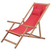 Strandstoel inklapbaar stof rood